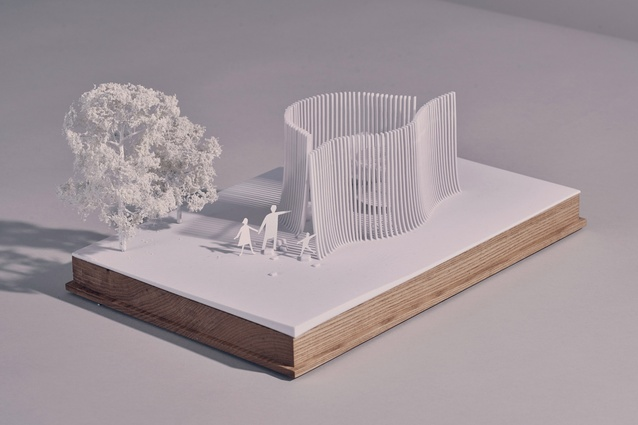 Architectural model of Asif Khan's summer house.