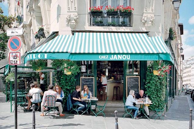 Chez Janou, a corner café in Paris.