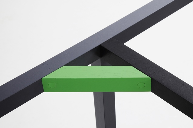 'Neon Wood' detail.