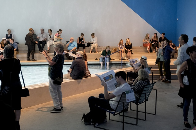 The Pool, Australia's exhibition at the 2016 Venice Architecture Biennale, curated by Aileen Sage Architects (Isabelle Toland and Amelia Holliday) and Michelle Tabet.