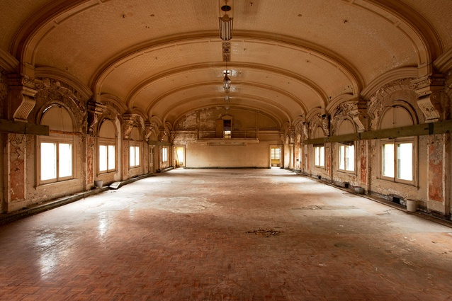The beautifully decaying ballroom.