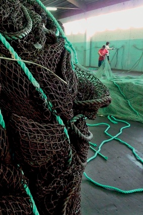 Nylon, a high-performing fibre, is found in fishing nets.