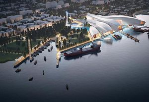 Cox Rayner's competition winning design for the Tianjin Maritime Museum in China was used by prime minister Malcolm Turnbull as an example of the opportunities for Australian architects in China.