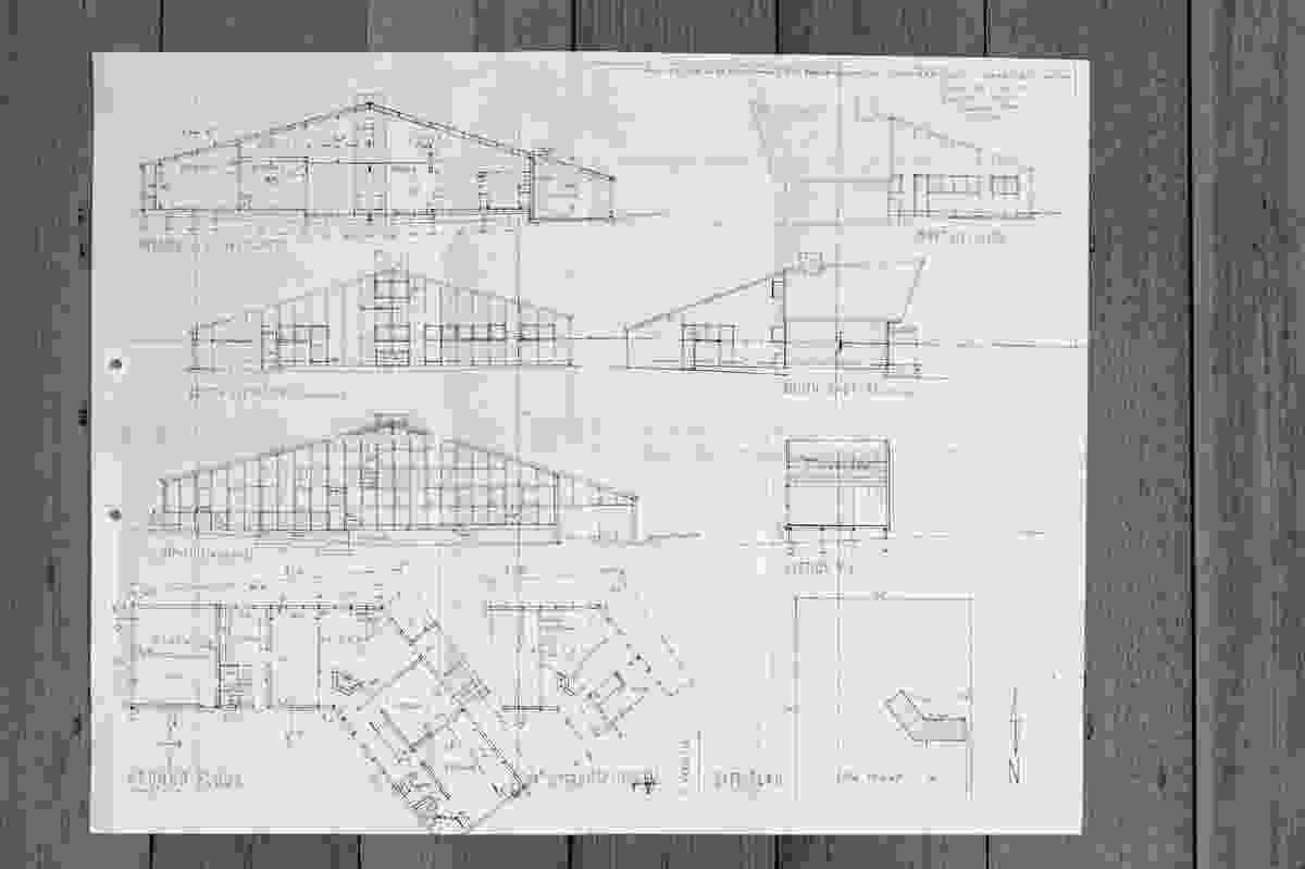 Original drawings for Blott House, circa 1956.