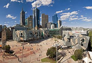 Federation Square by Lab Architecture Studio and Bates Smart.