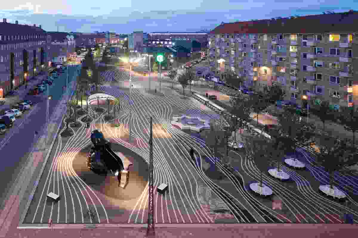 Superkilen, Copenhagen, by Superflex in collaboration with BIG Architects and Topotek1.
