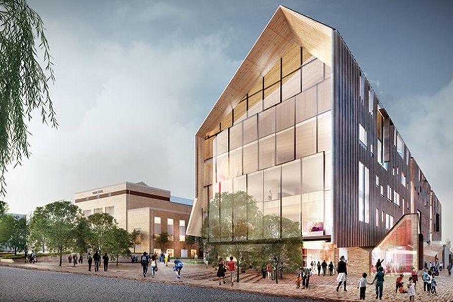 Concept design for the Ballarat GovHub by John Wardle Architects.