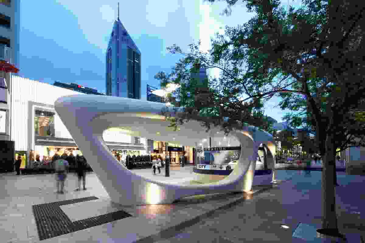 iCity Kiosk by Coniglio Ainsworth Architects.