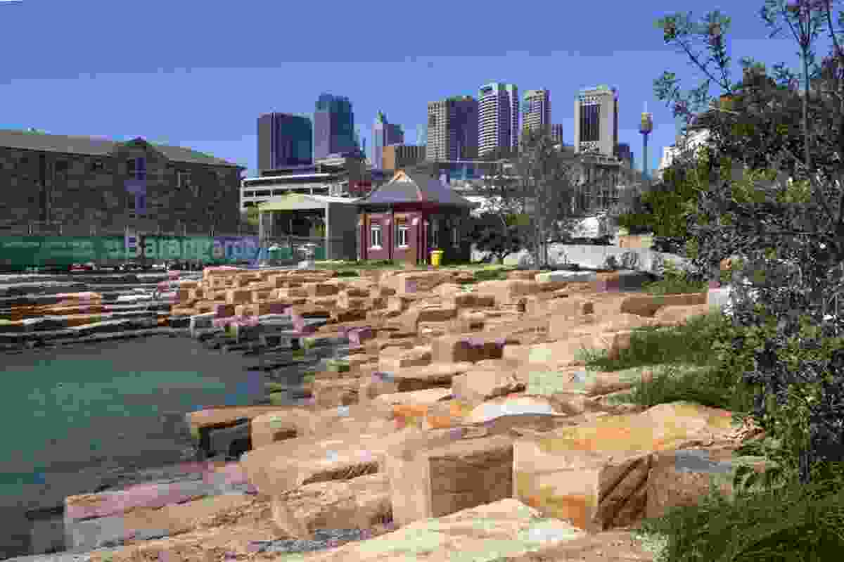 Barangaroo Point foreshore, as complete.