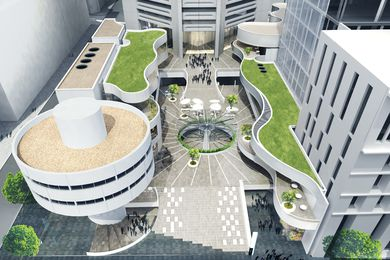 The proposed new podium addition to the Harry Seidler-designed MLC Centre in Sydney.