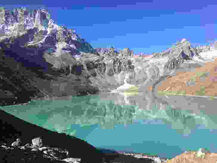 Gokyo Lake (4750m) in morning light.