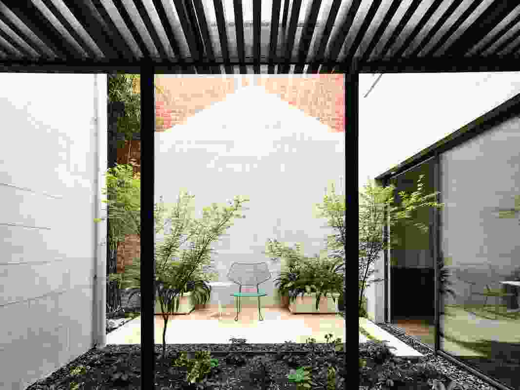A central courtyard offers a pocket of retreat and lets light into the house.
