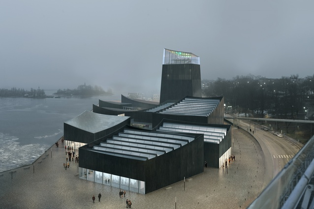 The winning design for Guggenheim Helsinki, Art in the City by Moreau Kusunoki Architectes.
