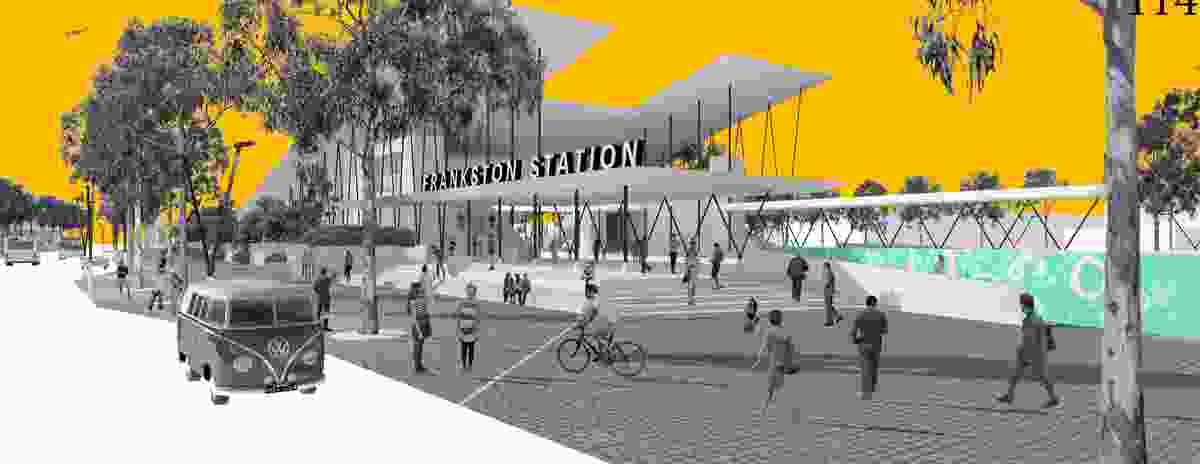 Proposal for the new Frankston railway station by Cullinan Ivanov.