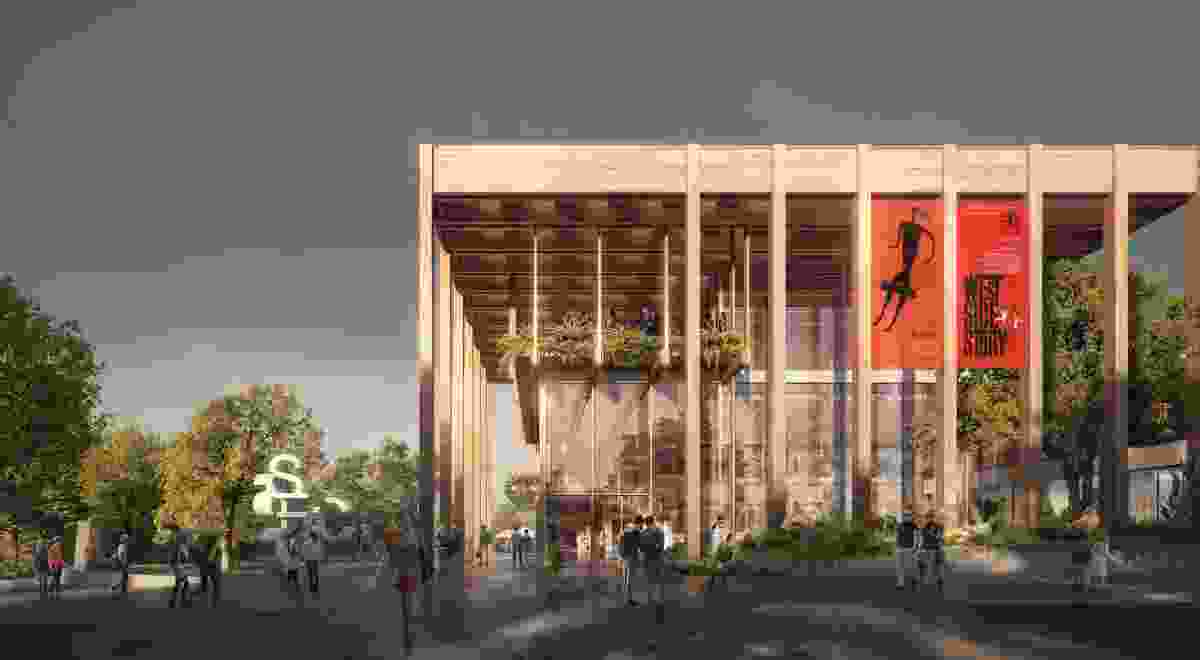 The proposed refurbishment of the Sutherland Entertainment Centre by Chrofi and NBRS Architecture.