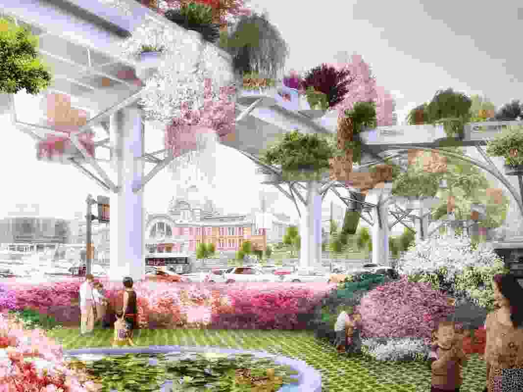 "A render of MVRDV's ""sky garden"" scheme."