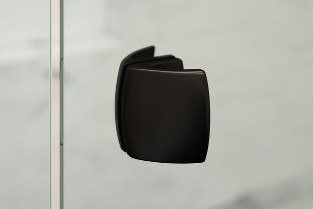 Grange Black inline shower screen handle.
