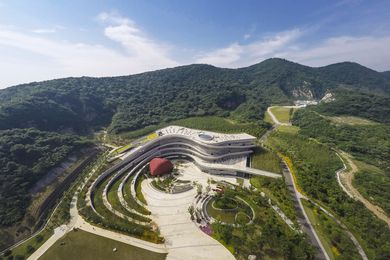 Fangshan Tangshan National Geopark Museum by Hassell.