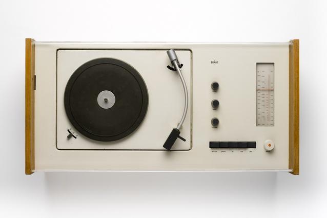 V Phonosuper Radiogram (1963), designed by Hans Guggelot and Dieter Rams. Made by Braun AG, Germany.