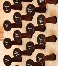 Details of Corbett Lyon's custom-designed organ.Image: Dianna Snape