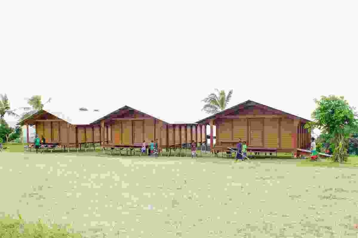The Nev House community buildings, designed by Ken McBryde, for remote communities on cyclone-ravaged Tanna Island in Vanuatu.