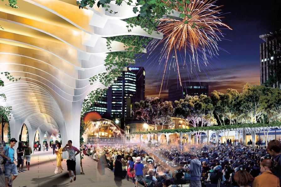 Victoria Square, Adelaide: Key moves of the project.