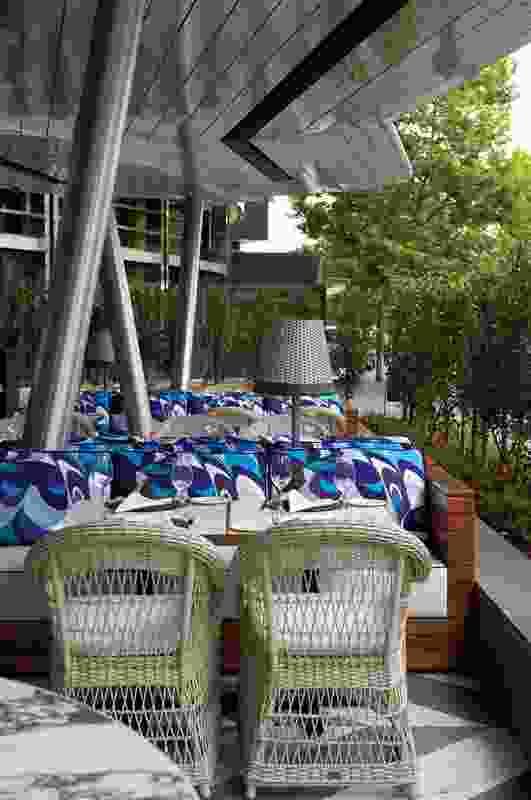 The alfresco terrace faces onto the Southbank promenade.