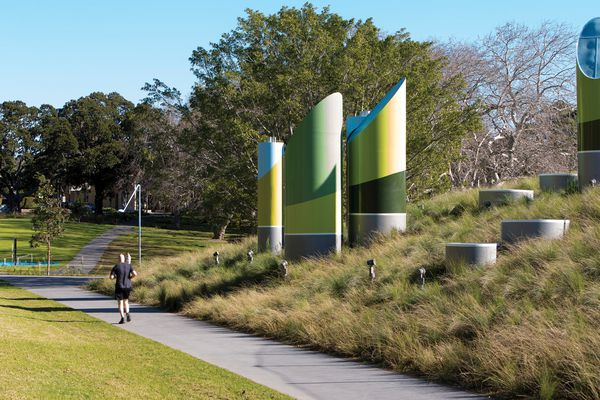 The green roof of the Prince Alfred Park Pool, by Neeson Murcutt Architects and Sue Barnsley Design, introduced an endemic planting scheme to this Victorian-period park.
