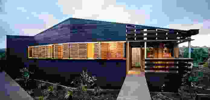 Ivanhoe House (2008): a black and ash palette amplifies the verdant landscape.