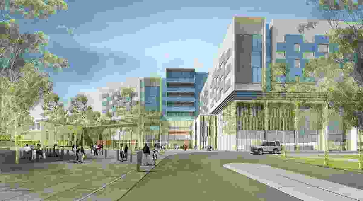 Bendigo Hospital in Bendigo, Victoria by Bates Smart and Silver Thomas Hanley.