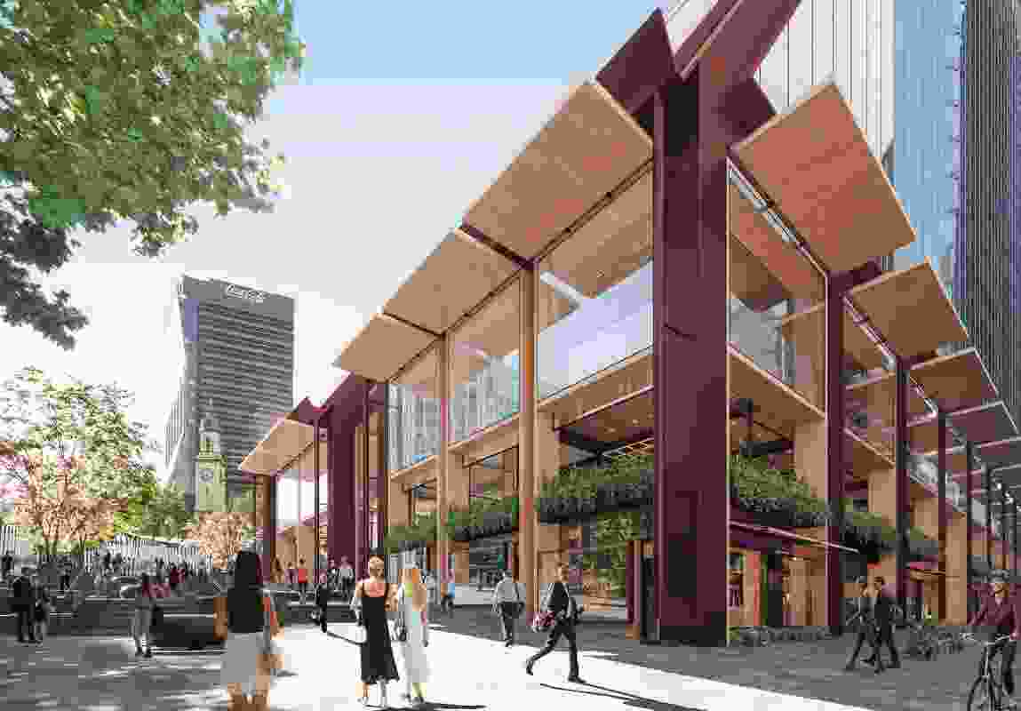 The proposed development designed by Bates Smart will create the largest publicly accessible space in North Sydney.