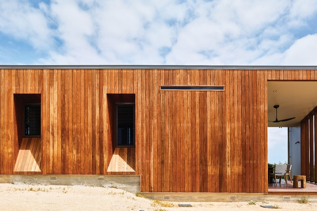 Over time, the spotted gum exterior will soften to the mottled grey tones of the surrounding landscape.