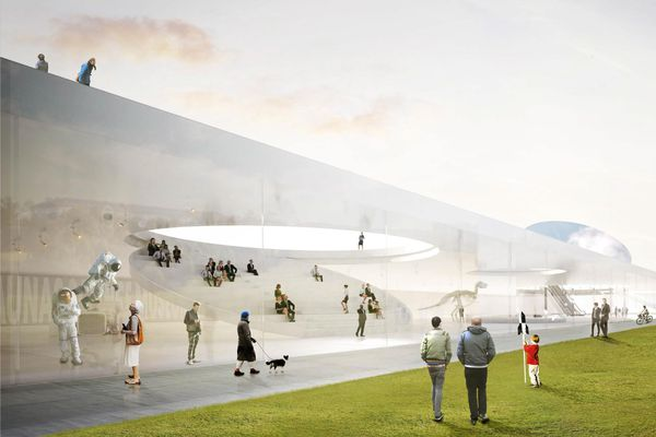 SMAR Architecture Studio's design for the National Science and Innovation Centre of Lithuania in Kaunas, known as Science Island.