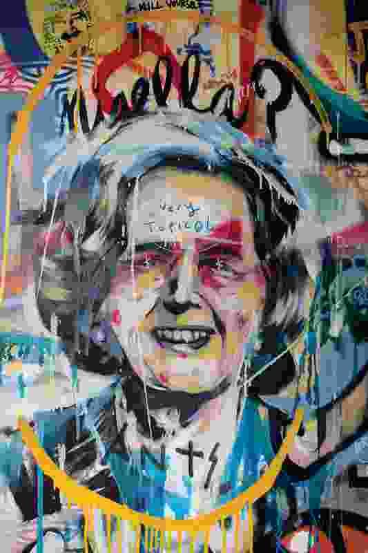 Graffiti art by Hobart artists Jamin, Tom O'Hern and Rob O'Connor.