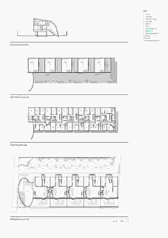 Wynnstay Road plans and section.