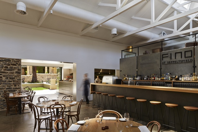Seppeltsfield Cellar Door and Fino Restaurant by Max Pritchard Architect.