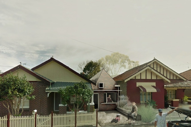 """The winner of the """"manor houses"""" category of the NSW government's """"missing middle"""" housing design competition by Madigan Architecture / University of South Australia."""
