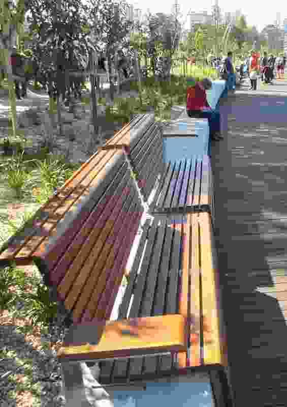 Seating along the Promenade