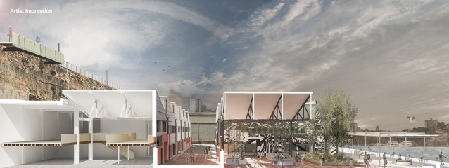 Impression of the redeveloped Building 2 at HMAS Platypus.