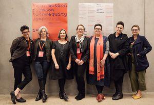 Parlour office holders (L–R): Naomi Stead, Alison Cleary, Gill Matthewson, Susie Ashworth, Justine Clark, Julie Willis, Sarah Lynn Rees.