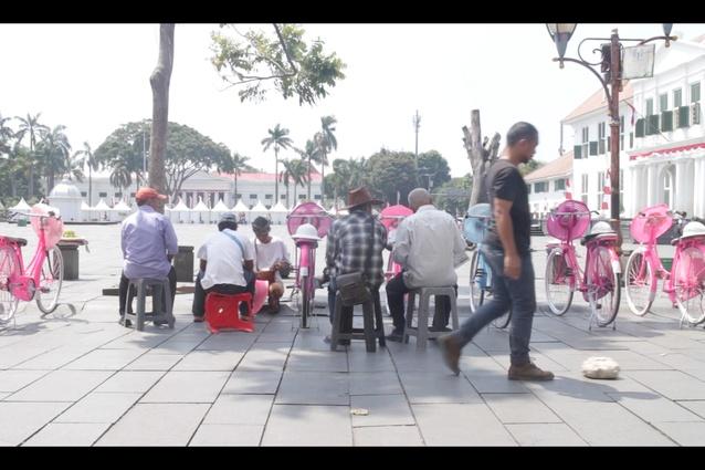 <i>Sunda Kelapa: Selamat Datang</i> by Aliansyah Caniago, Jakarta 2017.