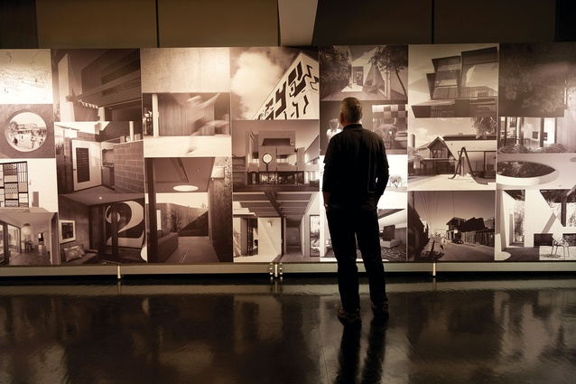 A retrospective exhibition of Kennedy Nolan Architects' work, held at the University of Melbourne in September 2011, included a collage of its projects.