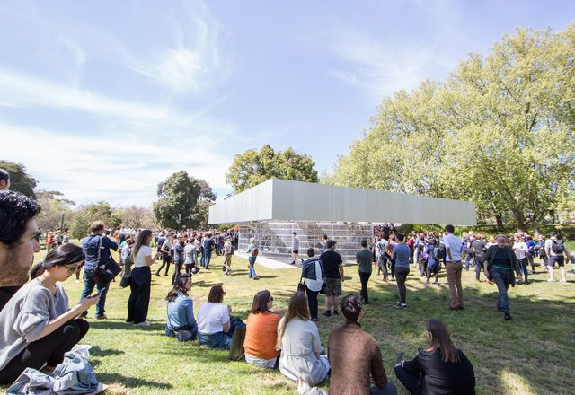 "2017 MPavilion by OMA, winner of the Melbourne Award in 2018 for ""Contribution to Profile by a Community Organisation."""