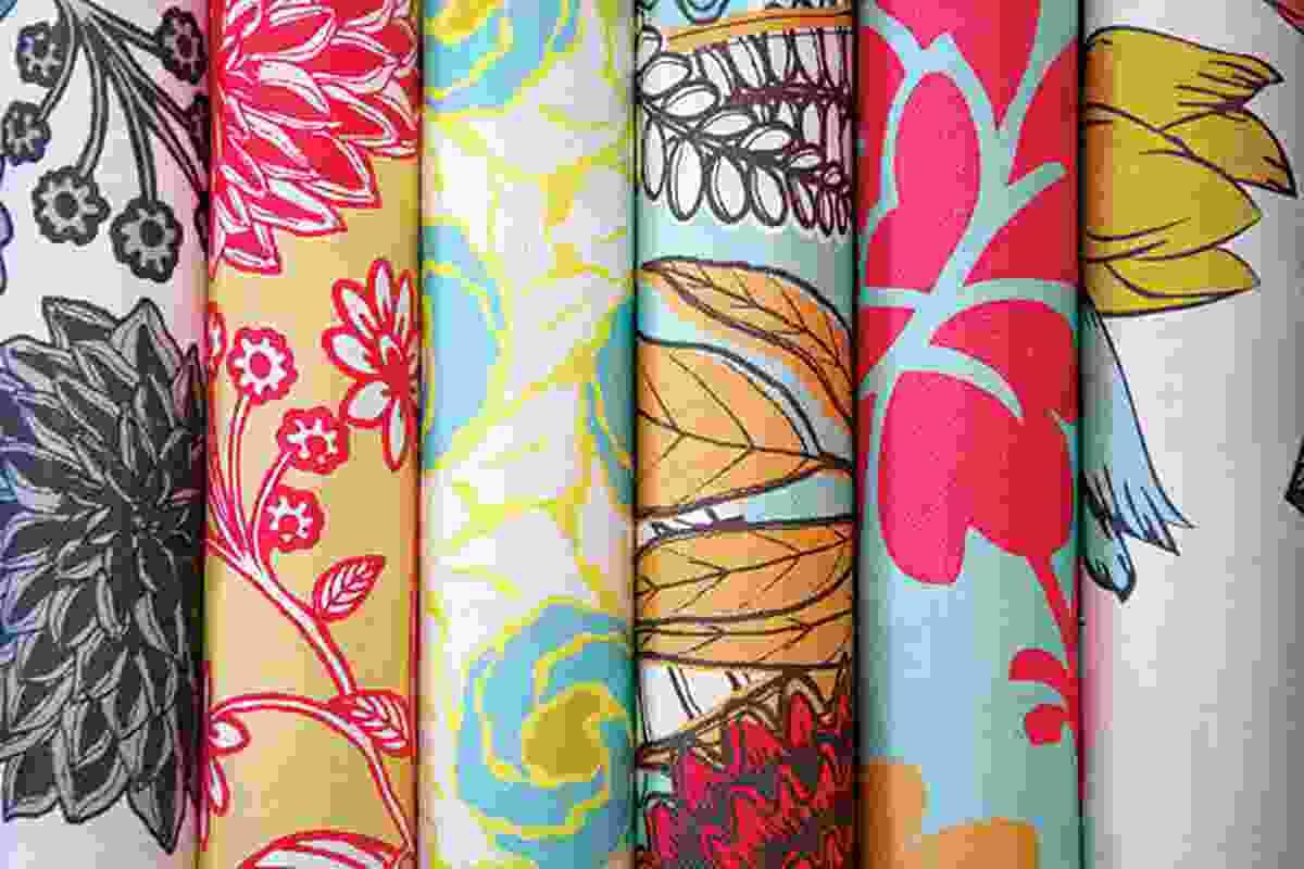 Floral fabric designs by Saskia Rysenbry and Abigail Borg from Sparkk.