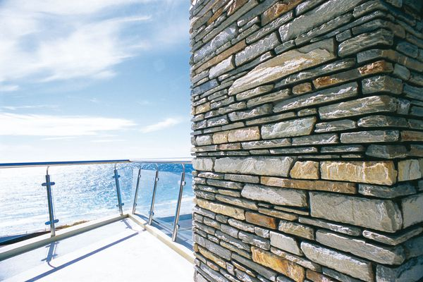 Bookleaf walling from Urbanstone's global stone series.