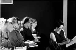Participants at UQ's Writing Architecture Symposium. Photographs Peter Bennetts.