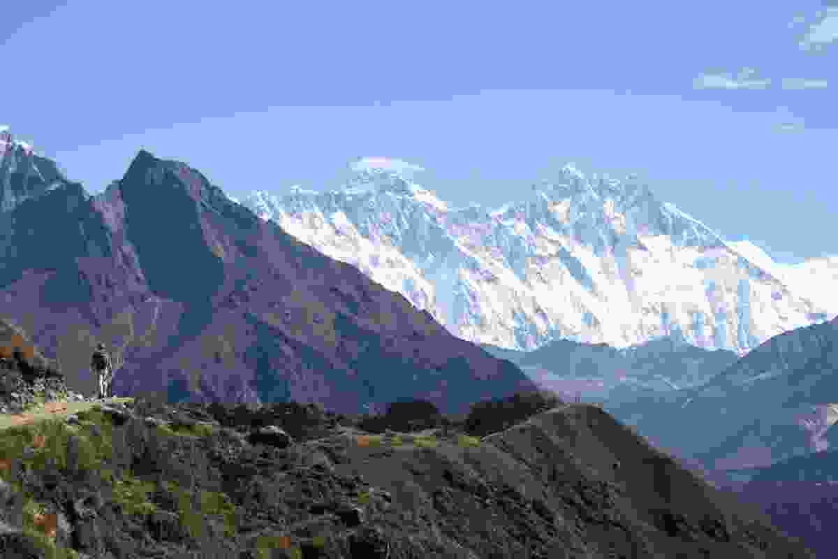 Along the walking route in the Everest (Khumbu) region of Nepal.