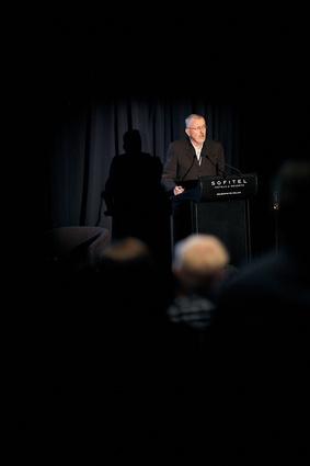 Keynote speaker Russell Bishop, emeritus professor of Maori education at the University of Waikato, New Zealand.