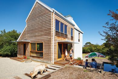 A heritage-listed chicory kiln on Phillip Island has been converted into a flexibly planned family residence.