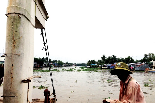 Aquaculture on the tributaries of the Mekong in Kiên Giang province.